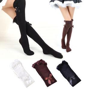 f05b789945117b Détails sur Femme fille coton Cosplay trop bas Boot chaussettes dentelle  Bow cuisse haute
