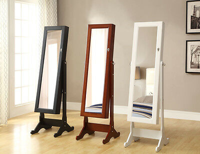 Luxury Full Length Free Standing Mirror Jewellery Cabinet / Organizer