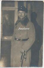 Foto Offizier mit Mantel und Säbel (g363)