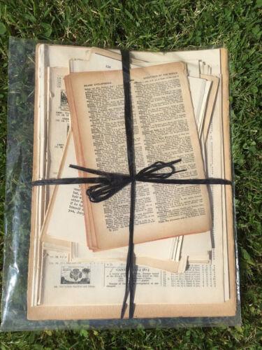 Vintage papiers vieux livre pages Packs Pour Découpage Scrapbooking paper crafts