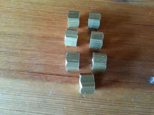 A Set of 7 Austin 7 Seven Chummy Box Ruby Pearl Opal Manifold Brass Nuts