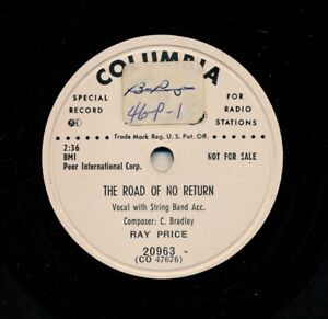 RAY-PRICE-on-1952-Columbia-20963-Promo-The-Road-of-No-Return