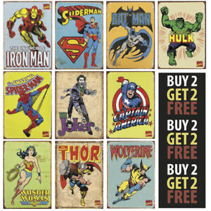 DC-COMICS-MARVEL-SUPER-HERO-AVENGERS-A4-A3-A2-300gsm-Poster-Wall-Art-Deco-Print