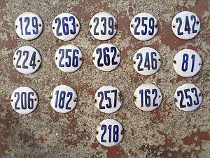 """Aluminium Hausnummer /""""27/"""" 12x10cm blau Hausnummernschild sofort lieferbar Schild"""
