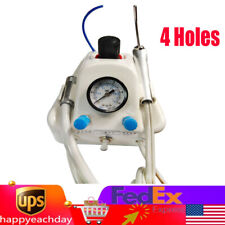 Portable Dental Turbine Unit Work For Air Compressor 3 Way 4 H Syringe Handpiece