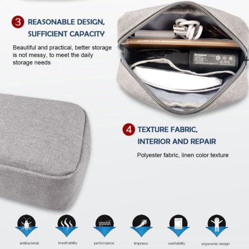 Portable Electronics Travel storage organizer USB Cable bag Case Digital Gadget