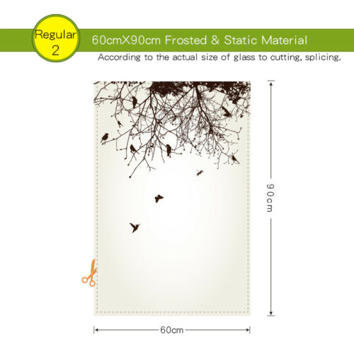 Tweet Static Cling Glass Window Film Privacy Frosted Opaque Glass Sticker