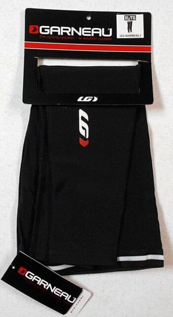 NEW 1 Pair LG Louis Garneau Unisex Cycling Leg Warmers 2 Black HeatMaxx Size XS