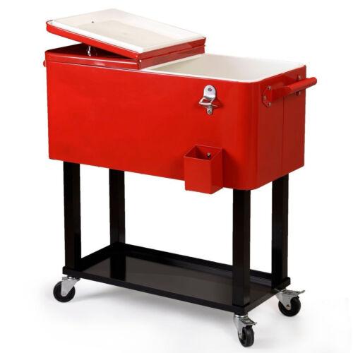 Patio Deck 80-Quart Rolling Cooler