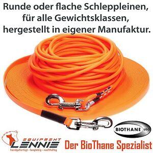 in vielen Farben 13 mm breit ohne Handschlaufe BioThane Schleppleine f/ür Hunde 15-25kg gen/äht bis zu 30 Meter L/änge