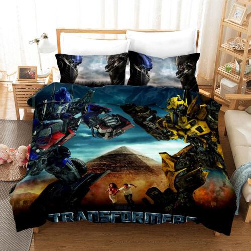 Transformers 3D Print Bedding Set Bumblebee Duvet Cover Pillowcase For Kids Gift