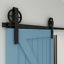 Big Wheel 5-12FT Sliding Barn Door Hardware Kit Include Adjustable Floor Guide