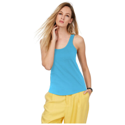 PACK OF 2 LADIES VEST WOMENS COTTON STRETCHY PLAIN T-SHIRT CAMI CASUAL TANK TOP