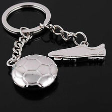 Sports Football Boot Soccer Ball Shape Key Chain Keyring Keyfob