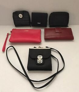 Lot-of-6-Wallets-and-Small-Purses-Kenneth-Cole-Reaction-Lodis-and-Unmarked