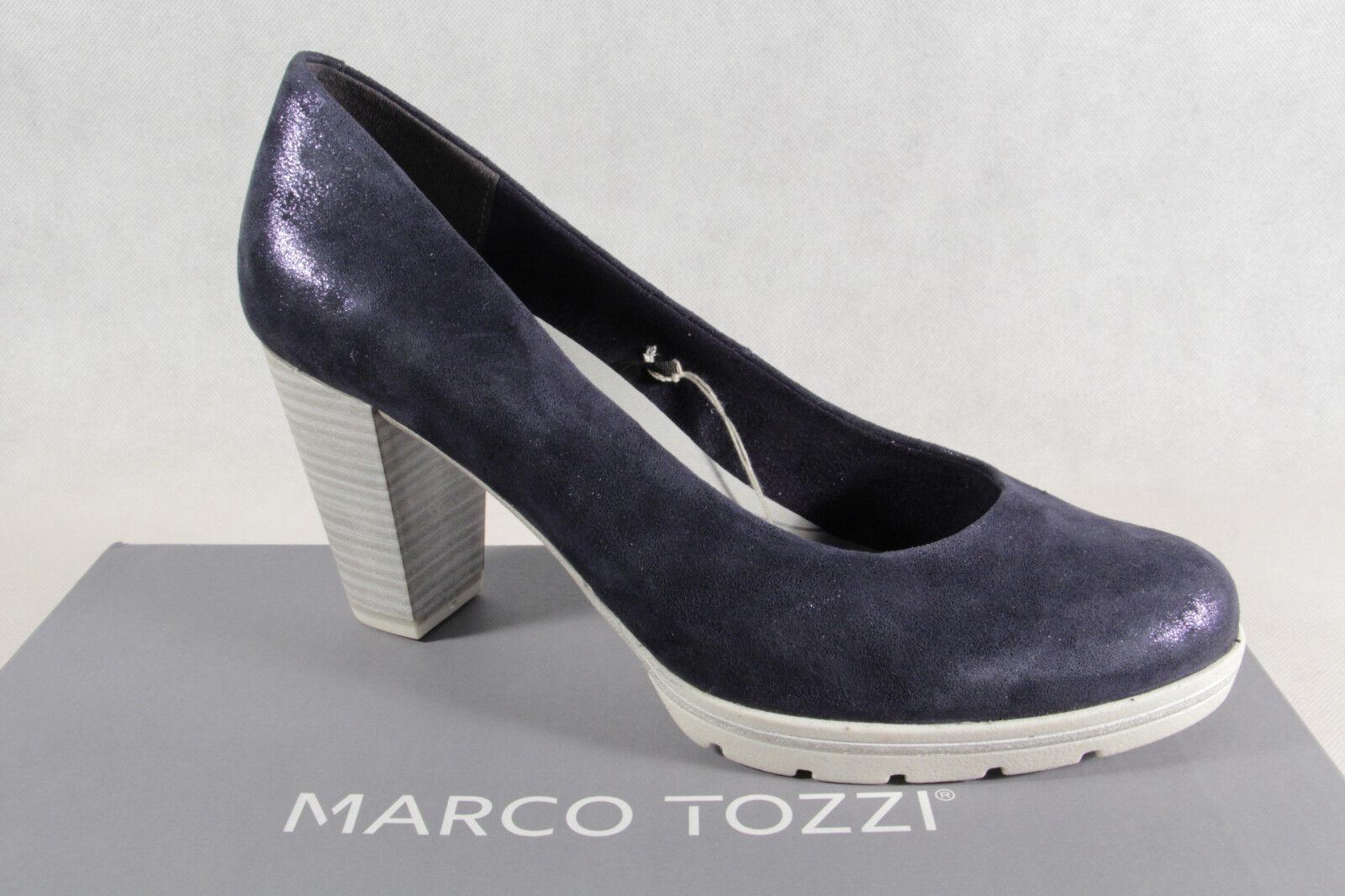 Marco Tozzi Pumps Ballerina 22437 Slipper blau weiche Innensohle Echtleder 22437 Ballerina NEU d7b117
