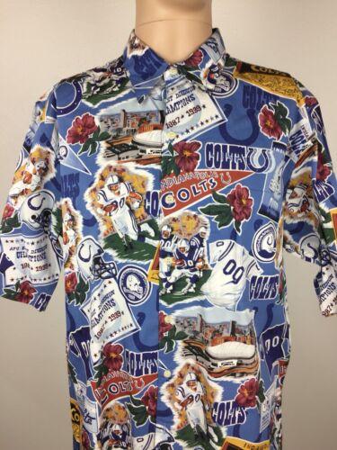 Spooner L Historial Shirt equipo Colts Hawaiian Hombres del Large Reyn Nfl Indianapolis wRAqUEE