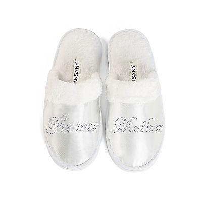 Gallina clara de fiesta novia Zapatillas De Spa Boda Dama De Honor Nupcial Regalos Personalizados