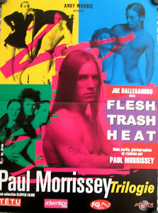 PAUL MORRISSEY TRILOGY FRENCH PETIT MOVIE POSTER ANDY WARHOL\'S HEAT ...