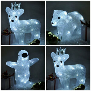 Ice Snow Effect Light Up Reindeer/Penguin/Polar Bear LED Christmas ...