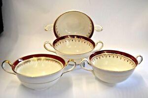 4 X Aynsley Durham manipulés bols plats 1646 Blanc Bourgogne dorée jante-afficher le titre d`origine sBrUwkHR-09092150-444762187