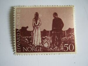 NORGE-Norvege-1963-n-526-100th-birth-Edward-MUNCH-TIMBRE-STAMP-MNH