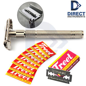 Butterfly-Safety-Razor-Twist-To-Open-Double-Edge-Clean-Shave-Men-Grooming-Kit-CE
