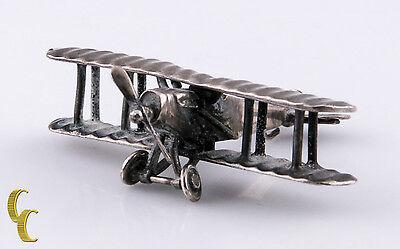 Sterlingsilber Puppenhaus Wwi Miniatur Flugzeug Spinning Propeller Und Räder