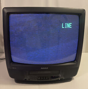 "VTG Admiral 19"" TV/VCR Combo GOJ 12333 Tested Works EUC"