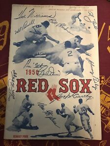 1950-Boston-Red-Sox-Official-Program-and-Score-Card-Used-Boston-amp-Chicago-7-13