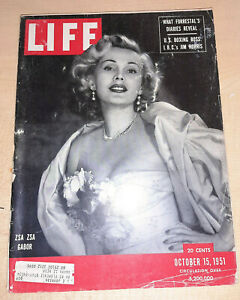 Life-Magazine-October-15-1951-Zsa-Zsa-Gabor-Confederacy-039-s-Banner-more