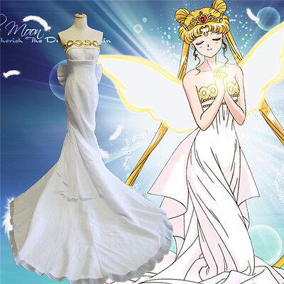 Sailor Moon Princess Serenity Tsukino Usagi Cosplay Costume Lolita Wedding Dress