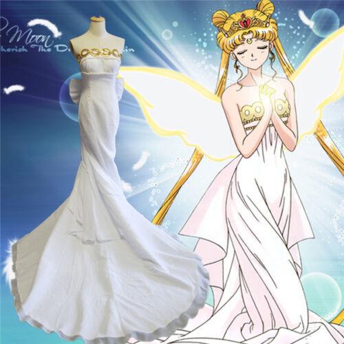 Sailor Moon Princess Serenity Tsukino Usagi Cosplay Costume Formal Dress Wedding