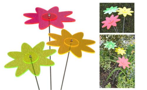 3er set capture//suncatcher 1 couleurs fleurs ø17cm 50cm acier inoxydable - baguette Lisa