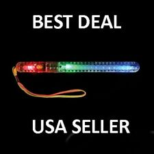 7 Function LED Blinking Flash Flashing Glow Wand Light RAVE Party Patrol Stick