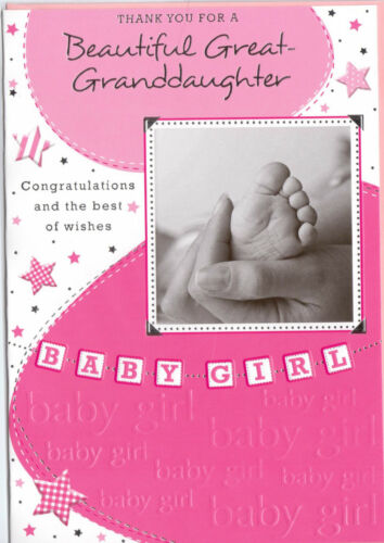 Thank You For A Beautiful Great Granddaughter Card Available In Various Designs.