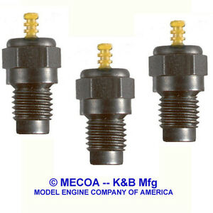 K&B 4444 GLOW PLUGS for FOUR STROKE engines - Made in USA - Qty of 12