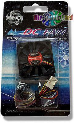 Evercool 40mm x 7mm 5v 3 pin Super Slim Ball Bearing Fan + Screws EC4007M05CA