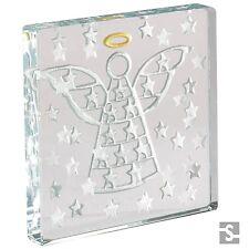 Spaceform Glass Minature Token Angel & Stars Christening Baptism Keepsake Gift