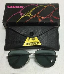 00365bc310e0 Image is loading Tasco-Glasses-1119S-Smoke-gray-Plastic-Lens-Silver-