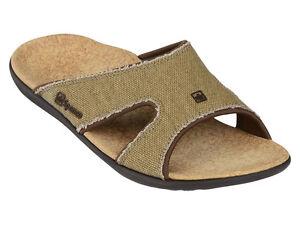Men-039-s-Spenco-Total-Support-Orthotic-Slide-Sandals-Straw-Java-Cork-Sz-10