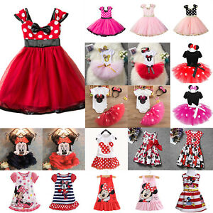 Kid-039-s-Girls-Minnie-Mouse-Tutu-Dress-Cartoon-Princess-Party-Summer-Skirts-Outfits
