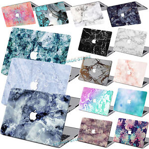 check out 28b81 48959 Details about Rubberized Hard Case Marble Painted Laptop Cover For Macbook  Air 11