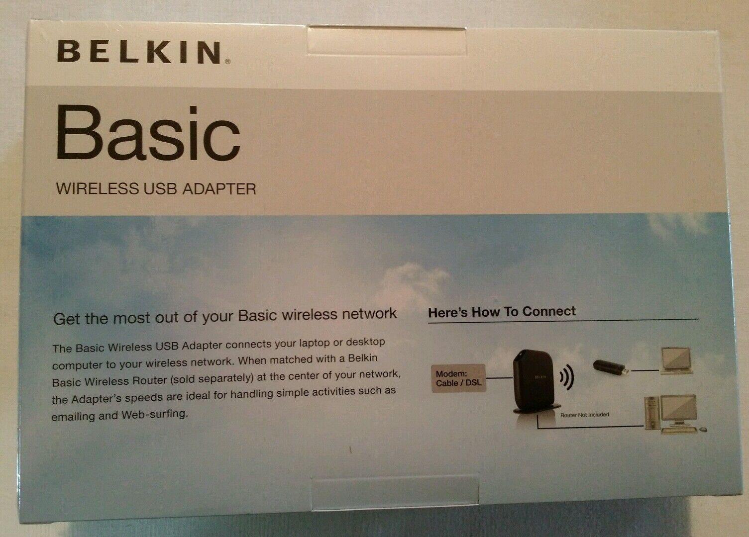 BELKIN BASIC WIRELESS USB ADAPTER WINDOWS 7 DRIVER