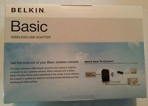BELKIN BASIC WIRELESS USB ADAPTER DRIVER (2019)