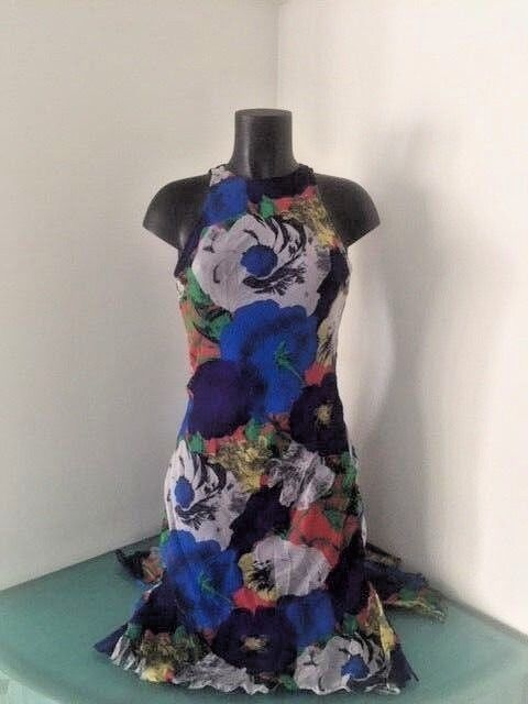 VINTAGE GIANNI VERSACE COUTURE  FLOWER DRESS SIZE 40