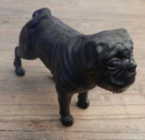 Cast-iron-Pug-dog-ornament-Home-Garden-decorative-display-Doorstop-UK-SELLER