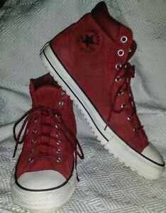 Details about CONVERSE Chuck Taylor All Star MAROON Red SUEDE High Tops 153677 Men~13 Women~15