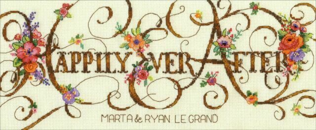 Counted Cross Stitch Kit Wedding Record Just Married PN-0154752 Vervaco