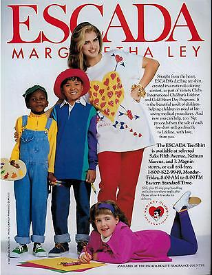 1992 BROOKE SHIELDS  for ESCADA   Magazine  Print  AD  2-pg